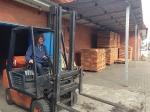 Holztransport für die Weidehütten